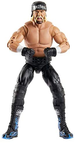 41OGVvIXf7L. AC  - WWE Ultimate Edition Wave 7 Hollywood Hogan Action Figure 6 in with Interchangeable Entrance JacketLanternExtra Head and Swappable Hands for Ages 8 Years Old and Up