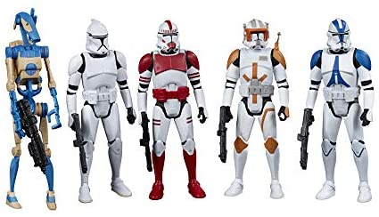 41Sm4aVU4nL. AC  - Star Wars Celebrate The Saga Toys Galactic Republic Figure Set, 3.75-Inch-Scale Collectible Action Figure 5-Pack for Kids Ages 4 and Up