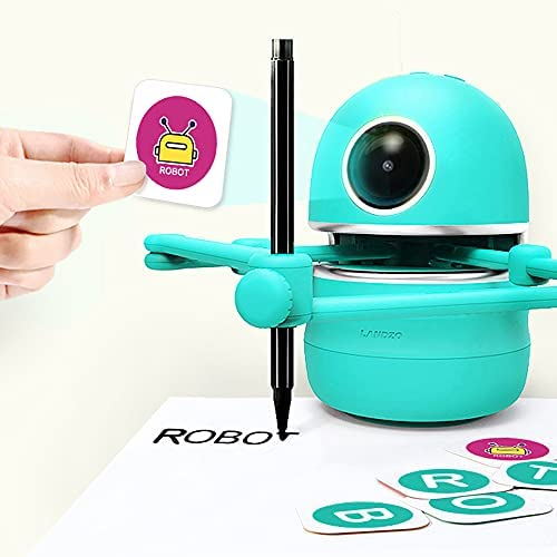 41UW3DVjhsS. AC  - LANDZO Robot Toy for Boys Age 4-5 Kids, Automatic Smart Robot Artist, Remote Control Toy with Kids Gifts