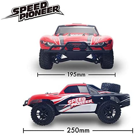 41UYe8dTyFL. AC  - VOLANTEXRC 1:18 Scale All Terrain RC Car 40 KM/H High Speed 4WD RC Truck with 2.4 GHz Remote Control Off Road RC Monster Vehicle Truck Crawler with Two Rechargeable Batteries for Boys Kids and Adults