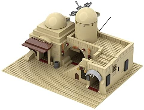 41WCBeOrYfS. AC  - Tatooine Double Building (Slums) TAT02 Building Kit for for Boys,Building Blocks MOC Model Toy Building Sets Creative Valentines Day Gifts for Him(636 Pieces) (A)