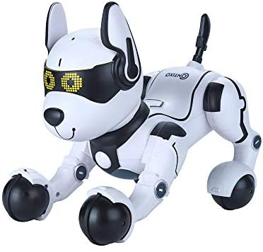 41XItKZh7oL. AC  - Contixo R4 IntelliPup Robot Dog, Walking Pet Toy Robots for Kids, Remote Control, Interactive & Smart Dancing Dance, Voice Commands, RC Dog for Gift Toy for Girls & Boys Ages 2,3,4,5,6,7,8,9,10 Years