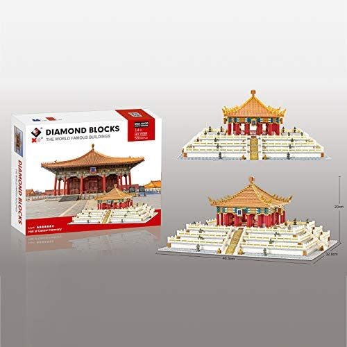 41Z122MH3wL. AC  - XSHION World Famous Architecture Micro Diamond Building Blocks Set, 5866Pcs The Hall of Central Harmony Mini Building Bricks Model Engineering Toy Construction Set Toys Gift for Kids Adults