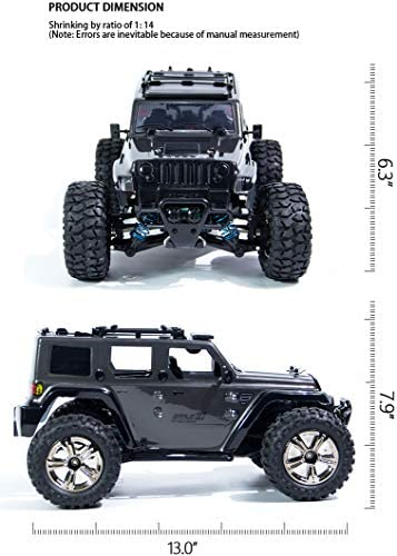 41Z8GdxxnhL. AC  - Jeep Rc Cars Off Road 4wd - Roterdon Rc Truck 1/14 Remote Control Car Cross-Country Monster Crawler Kids 35KM/H High Speed 2.4GHz Racing Vehicle Radio Control Toys for Boys Kids