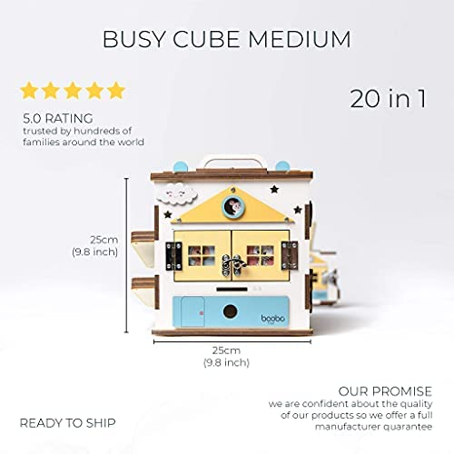 41cg1AF7tuS. AC  - Wooden Activity Cube for 1 Year Old Toddlers - Best-in-Class Wooden Activity Centre, Montessori Baby Learning Toy 20 in 1 - Ideal 1 Year Old Girl and Boy Gifts