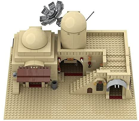 41dADTOQmwS. AC  - Tatooine Double Building (Slums) TAT02 Building Kit for for Boys,Building Blocks MOC Model Toy Building Sets Creative Valentines Day Gifts for Him(636 Pieces) (A)