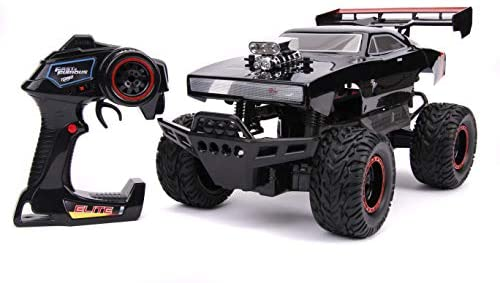 41dzyOxOTWL. AC  - Fast & Furious 1:12 4x4 Dom's Dodge Charger Elite RC Remote Control Car 2.4 Ghz, Toys for Kids and Adults