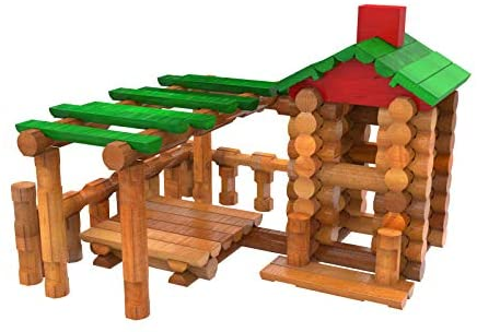 41knr 2R bL. AC  - LINCOLN LOGS – Classic Meetinghouse - 117 Parts - Real Wood Logs - Ages 3+ - Collectible Tin - Best Retro Building Gift Set for Boys/Girls – Creative Construction Engineering – Preschool Education Toy