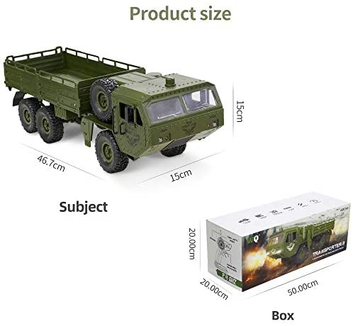 41p+pg83leL. AC  - RC Cars, Remote Control Army Car with Transport Function 6WD Off-Road Truck All Terrains Electric Toy Waterproof RC Toy for Adult Boys Girls