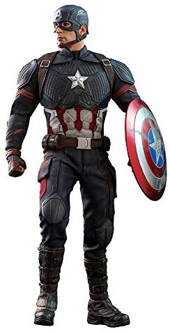 41q+b2wx1KL. AC  - Hot Toys Movie Masterpiece Series MMS536 Captain America Avengers: Endgame End Game Sixth Scale 1/6 (2021) Collectible Chris Evans Action Figure