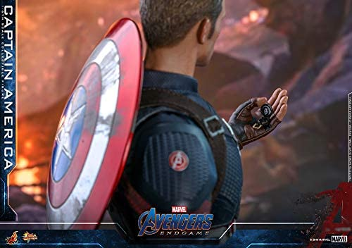 41qcQJ0e+GL. AC  - Hot Toys Movie Masterpiece Series MMS536 Captain America Avengers: Endgame End Game Sixth Scale 1/6 (2021) Collectible Chris Evans Action Figure