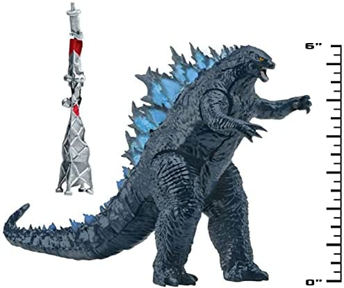 """41w9EP3tjMS. AC  - Godzilla vs. Kong 2021 Bundle of 2 Monsterverse Movie Series 6"""" Action Figures Godzilla with Radio Tower and King Kong with Fighter Jet"""