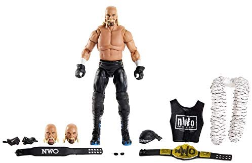 41yQYImv8CL. AC  - WWE Ultimate Edition Wave 7 Hollywood Hogan Action Figure 6 in with Interchangeable Entrance JacketLanternExtra Head and Swappable Hands for Ages 8 Years Old and Up