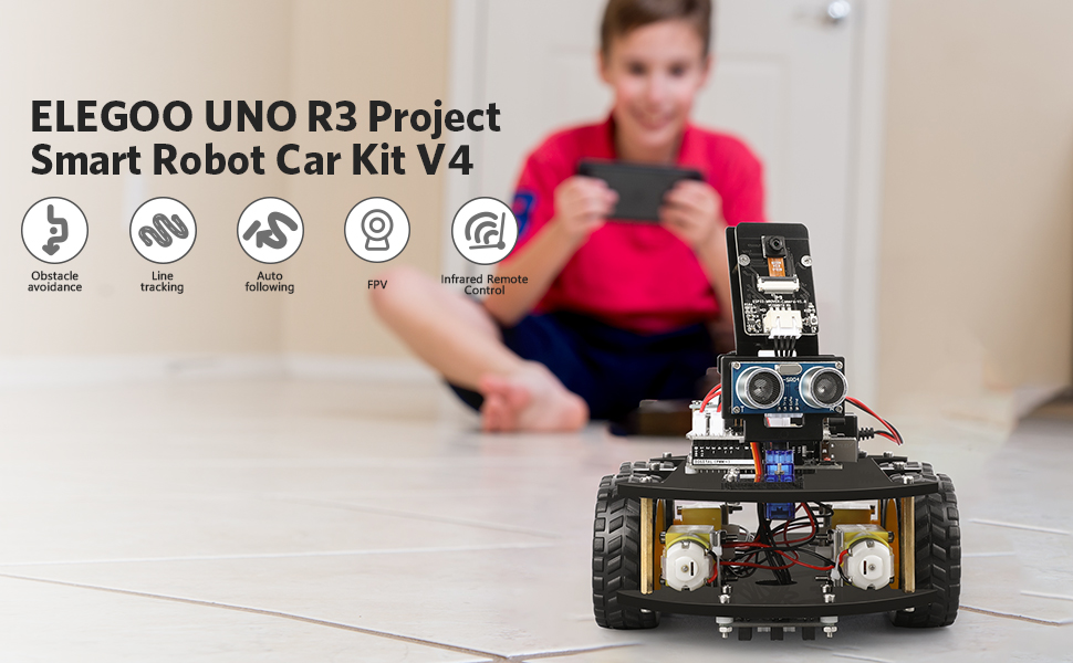 45779e6a 5488 42ab b74f 509ad885f83a.  CR0,0,970,600 PT0 SX970 V1    - ELEGOO UNO R3 Project Smart Robot Car Kit V4.0 with UNO R3, Line Tracking Module, IR Remote Control Module etc. Intelligent and Educational Toy Car Robotic Kit Compatible with Arduino Learner