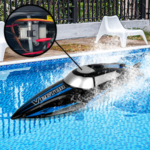 4d076d4d 3787 4cb5 9701 feffe71b205b.  CR0,0,300,300 PT0 SX300 V1    - RC Boat, 2.4Ghz Remote Control Boat for Pools and Lakes, 4 Channels Fast Racing Boat with 30+KPH Speed Boat Toys for Kids and Adults (Blue)