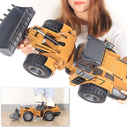 51+b7ktjwVS. AC  - TongLi 583 1:14 Scale Metal RC Wheel Loader Toy Construction Trucks Vehicles Remote Control Outdoor Toys Bulldozer for Adults 2.4Ghz Powerful Upgraded with LED Lights and Simulation Sound