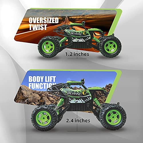51 4SFNjPIS. AC  - DEVIVAE RC Cars 2059 Remote Control Car for Adults Kids, 1:12 Scale 15Km/h All Terrain Monster Trucks 4WD Off-Road 2.4GHz Rock Crawler with 80Mins Play, Vehicle Toy Ideal Gift for 6 7 8 9 10 Boy Girl