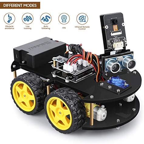 510JVXMxH9L. AC  - ELEGOO UNO R3 Project Smart Robot Car Kit V4.0 with UNO R3, Line Tracking Module, IR Remote Control Module etc. Intelligent and Educational Toy Car Robotic Kit Compatible with Arduino Learner