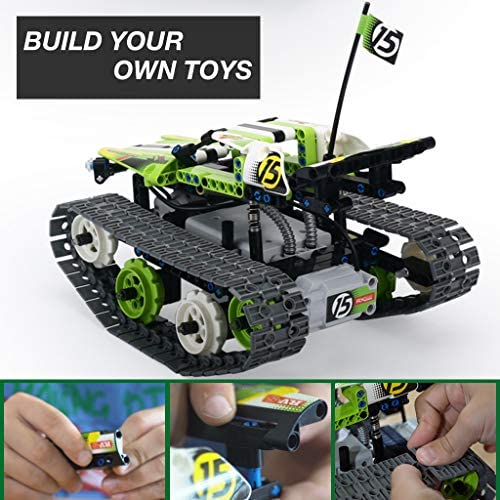 510VEMMydwL. AC  - Remote Control Car Building Kit - RC Tracked Racer 3 in 1 Building Set, Fun, Educational, Learning, STEM Toys, Best Gift for Kids Age 8-12, 14 Year Old Boys and Girls (353pcs)