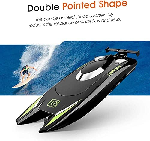 510jwSQQ5pS. AC  - RC Boat 2.4Hz Remote Control Boats for Kids and Adults 20+ MPH High Speed Ship Dual Motors Self-Righting Racing Boat Pools and Lakes Toys for 6 7 8 Year Old Boys Gifts (Black)