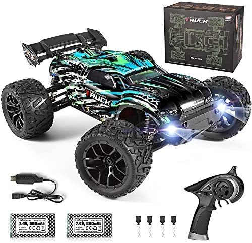 511 lLDhmfS. AC  - HAIBOXING RC Cars Hailstorm, 1:18 Scale 4WD High Speed 36+ km/h Remote Control Car Off Road Monster RC Truck with 2 Batteries 40 mins Play, Waterproof RC Toys Truggy Gifts for Kids and Adult