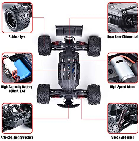 511F0z2KJbL. AC  - GoStock Remote Control Car, 1:12 Scale Fast 38km/h RC Car, 2.4Ghz Off-Road RC Trucks, Remote Control Truck Monster Truck for Boys & Kids Adult