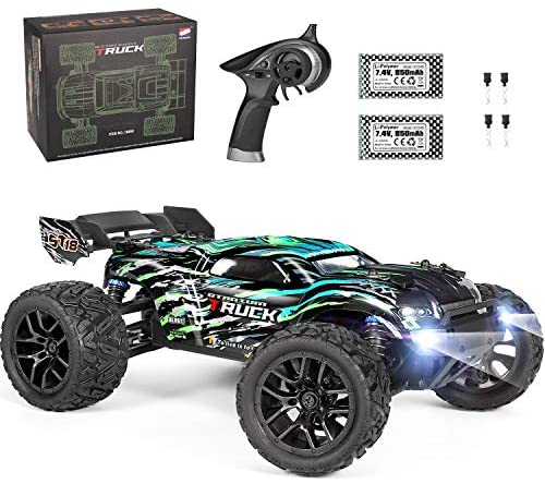 512yiI KvgL. AC  - HAIBOXING RC Cars Hailstorm, 36+KM/H High Speed 4WD 1:18 Scale Electric Waterproof Truggy Remote Control Off Road Monster Truck with Two Rechargeable Batteries, RTR ALL Terrain Toys for Kids and Adult