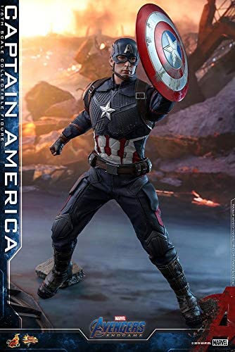 513D89ruwsL. AC  - Hot Toys Movie Masterpiece Series MMS536 Captain America Avengers: Endgame End Game Sixth Scale 1/6 (2021) Collectible Chris Evans Action Figure