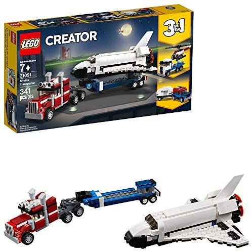 513cTTQ6tYL. AC  - LEGO Creator 3in1 Shuttle Transporter 31091 Building Kit (341 Pieces)