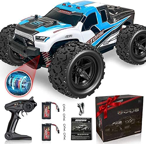 513vMyssvNL. AC  - Remote Control Truck for Boys 45KM/H 1:18 Scale RC Truck 4WD All Terrain Off Road Fast RC Car with 2 Rechargeable1200mAh Batteries for 60 Min Run Time, 2.4Ghz Remote Control Car Gift for Adults Girls