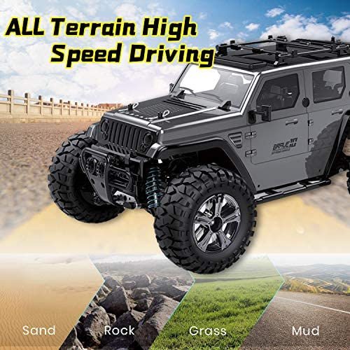 5176Z3HWpeL. AC  - Jeep Rc Cars Off Road 4wd - Roterdon Rc Truck 1/14 Remote Control Car Cross-Country Monster Crawler Kids 35KM/H High Speed 2.4GHz Racing Vehicle Radio Control Toys for Boys Kids