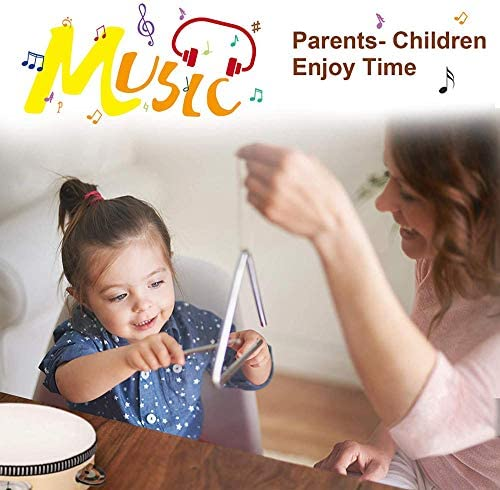 517gCoG17jL. AC  - Kids Toddler Musical Instruments, Toddlers 100% Natural Wooden Music Percussion Toy Sets for Childrens Preschool Educational Age3-8 Early Learning, Musical Toys with Bags Boys and Girls