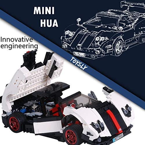 517yjCHc9oL. AC  - TOYSLY Mini Sports Car Zoda MOC Building Blocks and Construction Toy, Adult Collectible Model Cars Set to Build, 1:14 Scale Race Car Model (960 Pcs)