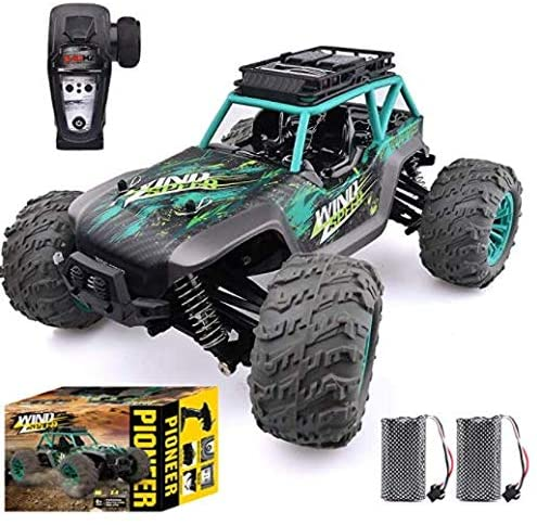 518fj1+q1zL. AC  - Remote Control Car, 1:14 Scale Christmas Large RC Cars 36 KM/H Speed 4WD Off Road Monster Trucks, All Terrain Electric Toy Trucks for Adults & Boys 8-12 - 2 Batteries for 60+ Min Play