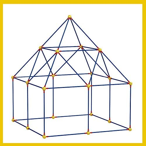 518gga2zlwL. AC  - Fort Building Kit Toys for Kids - 270 Pieces DIY Fun Build for Girls and Boys Construction Tents Great Tunnels Creative Gift Set (270 Pieces)