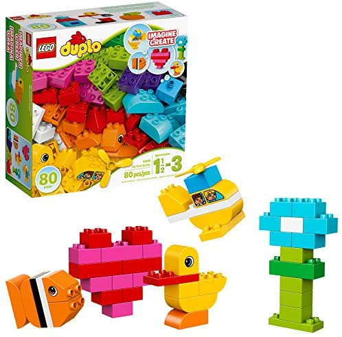 51ADHcXbfzL. AC  - LEGO DUPLO My First Bricks 10848 Colorful Toys Building Kit for Toddler Play and Pretend Play (80 Pieces)