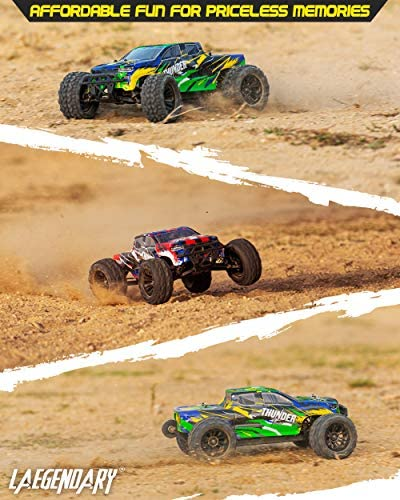 51AdDVEboQL. AC  - 1:10 Scale Brushless RC Cars 65 km/h Speed - Boys Remote Control Car 4x4 Off Road Monster Truck Electric - All Terrain Waterproof Toys for Kids and Adults - 2 Body Shells + Connector for 30+ Mins Play
