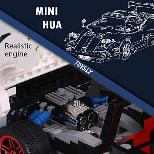 51B3dw6DNyL. AC  - TOYSLY Mini Sports Car Zoda MOC Building Blocks and Construction Toy, Adult Collectible Model Cars Set to Build, 1:14 Scale Race Car Model (960 Pcs)