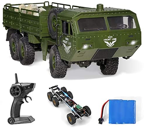 51C8OyLDs4L. AC  - RC Army Cars,Remote Control Car Trunk with Transport 6WD Off Road Racing Trunk 1:16 Scale RC Vehicle All Terrains for Adult Kids