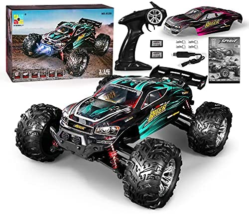 51EmNWY86wS. AC  - MIEBELY RC Cars 1: 16 Scale All Terrain 4x4 Remote Control Car for Adults & Kids, 40+ KM/H Waterproof Off-Road RC Trucks, High Speed Electronic Cars, 2.4Ghz Radio Controller, 2 Batteries, 2 Car Bodies