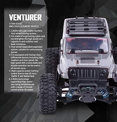 51H1cOfAdVL. AC  - Jeep Rc Cars Off Road 4wd - Roterdon Rc Truck 1/14 Remote Control Car Cross-Country Monster Crawler Kids 35KM/H High Speed 2.4GHz Racing Vehicle Radio Control Toys for Boys Kids