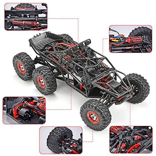 51H75YomDYS. AC  - 1:12 Scale Large RC Cars Truck 60+kmh High Speed for Adults and Kids,6x6 2.4GHz Radio Road Monster All Terrain Electric Remote Control Offroad Car with Two Rechargeable Batteries.