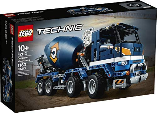 51I3S8qj9vL. AC  - LEGO Technic Concrete Mixer Truck 42112 Building Kit, Kids Will Love Bringing The Construction Site to Life with This Cool Concrete Truck Toy Model Set (1,163 Pieces)