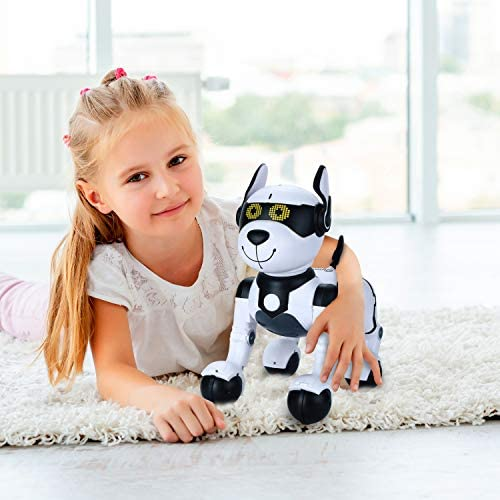 51IQgZxuyCL. AC  - Contixo R4 IntelliPup Robot Dog, Walking Pet Toy Robots for Kids, Remote Control, Interactive & Smart Dancing Dance, Voice Commands, RC Dog for Gift Toy for Girls & Boys Ages 2,3,4,5,6,7,8,9,10 Years