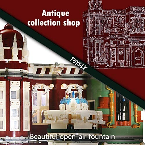 51IWu3Jg7aL. AC  - TOYSLY Street Antique Collection Shop MOC Building Blocks and Engineering Toy, Construction Set to Build, Model Set and Assembly Toy for Teens and Adult 3037 Pieces