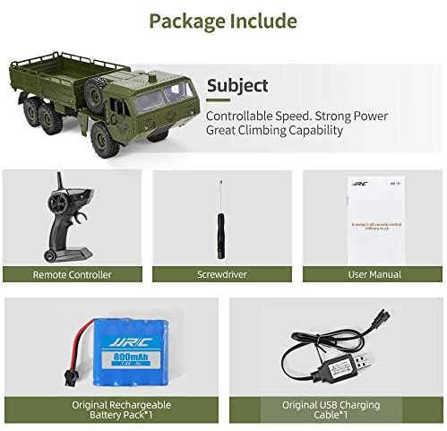 51Ihv45yS0L. AC  - RC Army Cars,Remote Control Car Trunk with Transport 6WD Off Road Racing Trunk 1:16 Scale RC Vehicle All Terrains for Adult Kids