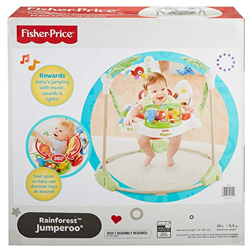 51L23eyrH3L - Fisher-Price Rainforest Jumperoo