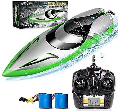 51LzB4yuEXS. AC  - RC Boat [Upgraded 2021] - SHARKOOL 2.4 GHZ 25+ MPH Remote Control Boat, Fast RC Boats for Adults and Kids, Remote Controlled Boat for Pools and Lakes with 2 Rechargeable Batteries