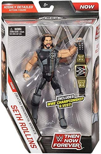 51MWicWaGmL. AC  - WWE Elite Collection Then Now Forever Seth Rollins Action Figure (with WWE Championship Belt)
