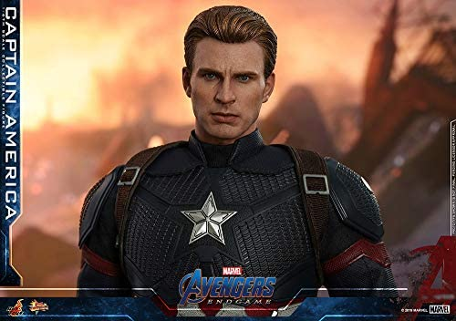 51N88lsVlqL. AC  - Hot Toys Movie Masterpiece Series MMS536 Captain America Avengers: Endgame End Game Sixth Scale 1/6 (2021) Collectible Chris Evans Action Figure